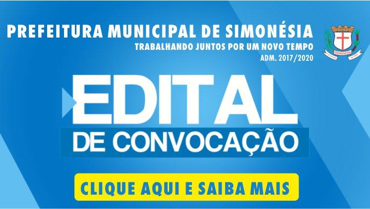 EDITAL DE CONVOCAÇÃO Nº 04/2018