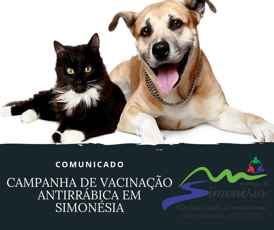 CAMPANHA DE VACINAÇÃO ANTIRRÁBICA EM SIMONÉSIA